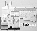 Messschieber mit genau 15mm