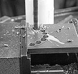 Löcher für Radius bohren