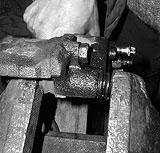Bremssattel im Schraubstock