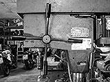 Vorschubhebel der Säulenbohrmaschine