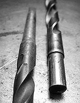 Spiralbohrer mit Morsekegel und Zylinderschaft