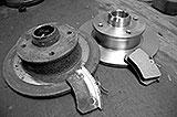 Neue und alte Bremse