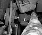 Antriebswelle Radlagergehäuse