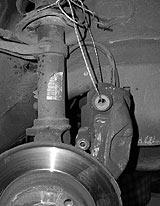 Bremssattel weghängen