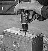 Batteriestopfen Starterbatterie senken