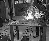 Schweisstisch in der Werkstatt