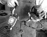 Bremsanlage für Lenkkopflager demontiert