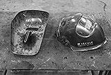 Schweisspiegel und Automatikhelm