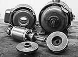 Riemenscheiben der zwei Motoren