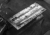 Schweißnaht mit Edelstahl-Elektrode