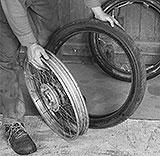 Reifen und Felge getrennt