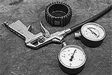 Reifenfüller mit Manometer reparieren