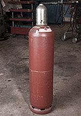 Acetylen-Flasche mit Kappe