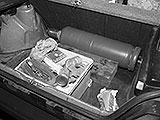Acetylenflasche im Kofferraum transportieren