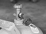 Propanflasche ohne Druckminderer