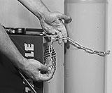 Gasflasche mit Kette sichern