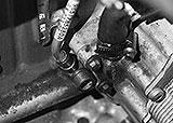 Vorlauf und Rücklauf Turbolader
