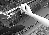 Auto-Politur auftragen