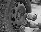 VW Rad abschrauben