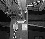 Stromleitungen Werkstatt