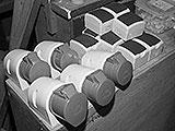Steckdosen in der Autowerkstatt