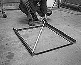 Rahmenteile Werkbank messen