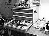 Werkstatt-Wagen-Einbau
