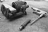 Druckluft-Adapter für Bremssattel-Demontage
